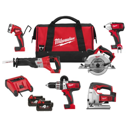 Kombipaket MILWAUKEE HD18 PP6A-402B 18 V