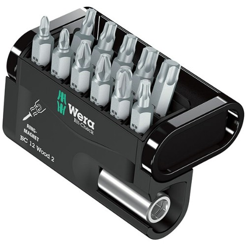 Bitssats 1/4  WERA Bit-Check 12 Wood 2